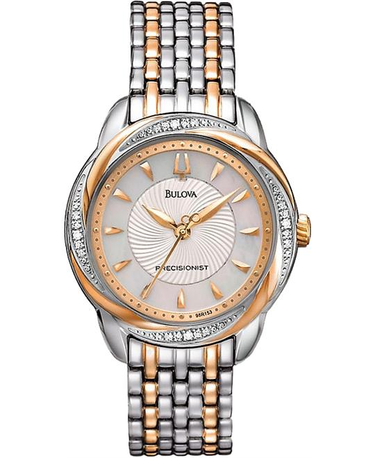 Bulova Precisionist Brightwater Diamond Watch 30mm