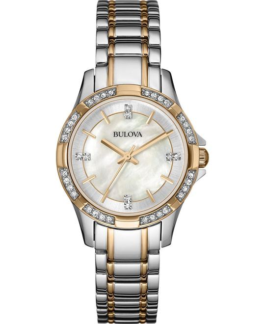 đồng hồ Bulova Women's Quartz Crystal Accents 30mm