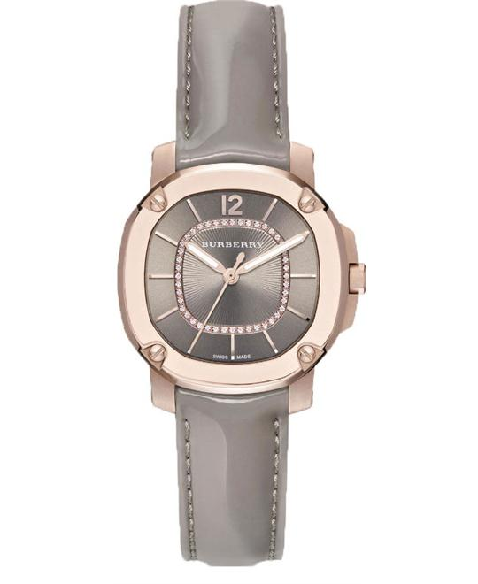Burberry Britain Diamond 18k Rose Gold Watch 34mm