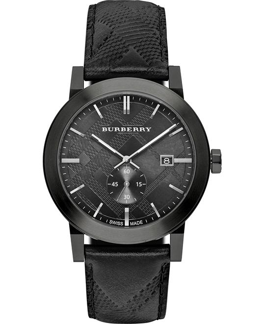 Burberry City Leather Mens Watch 42mm
