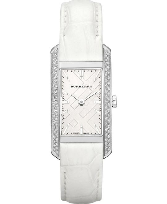 Burberry London Diamond Silver Watch 20mm