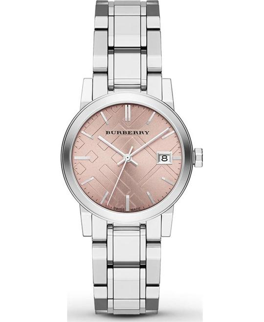 Burberry Medium Check Stamped Ladies Watch 34mm