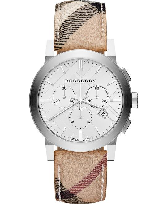 Burberry The City Haymarket Unisex Swiss Watch 42mm