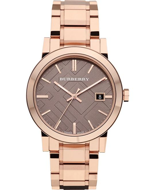 Burberry The City Rosegold Men's Swiss Watch 38mm