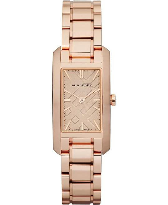 Burberry Rose Gold Rectangular Ladies watch 24mm