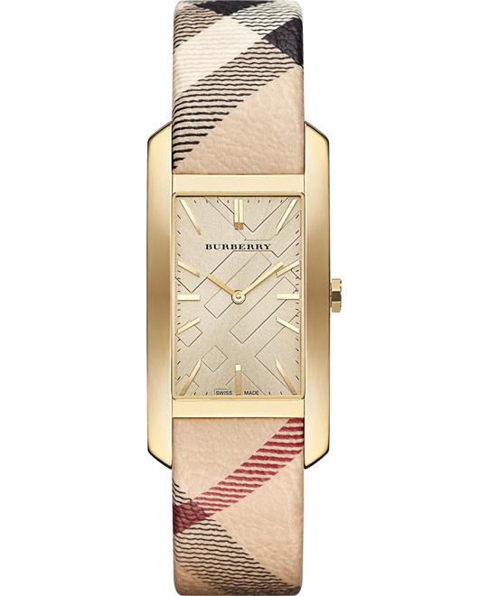 Burberry Stainless Steel Case Leather Watch 25mm