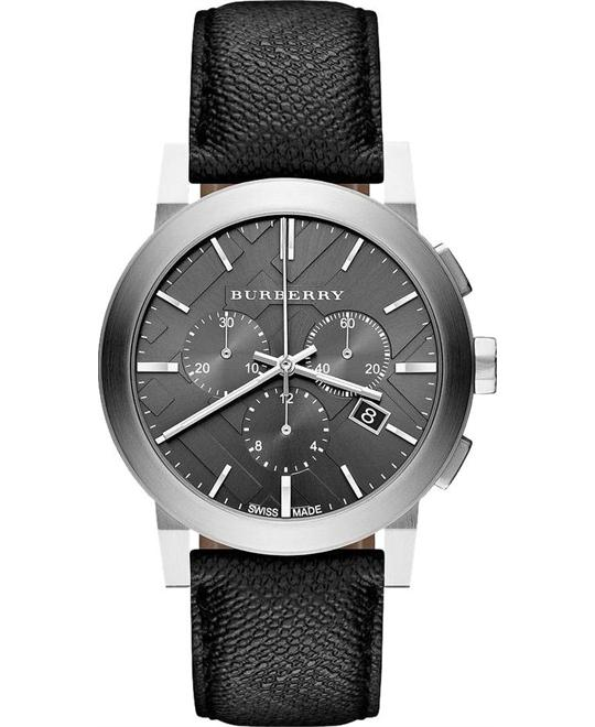 Burberry Swiss Chronograph Beat Check Unisex Watch 42mm