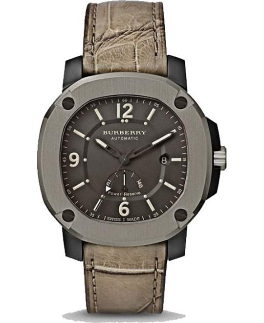Burberry The Britain Automatic Olive Alligator Watch47mm