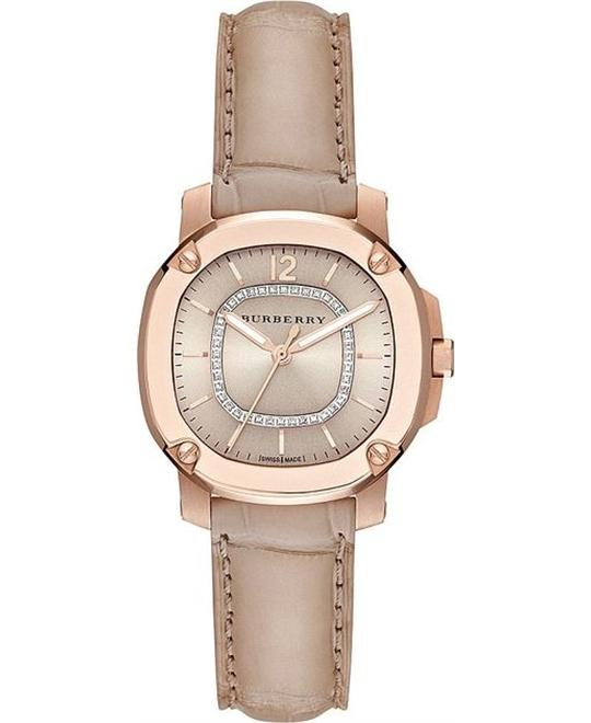 Burberry The Britain Diamond Dial Watch 34mm