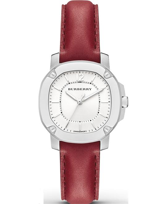Burberry The Britain Women's  Red Calf  Watch 34mm