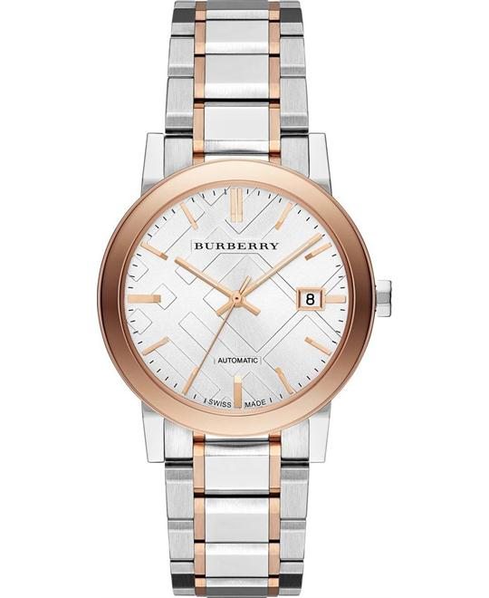 Burberry The City Automatic Two Tone Watch 38mm