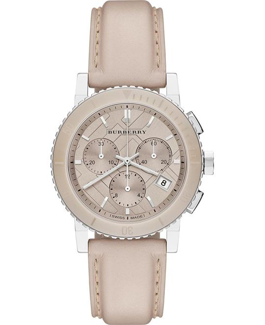 Burberry The City Check Stamped Watch 38mm