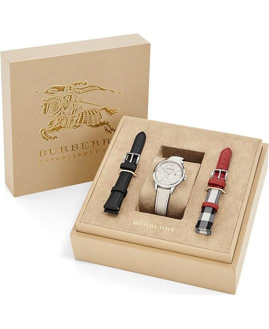 BURBERRY THE CLASSIC ROUND GIFTSET WATCH 32MM
