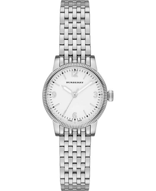 BURBERRY The Utilitarian Women's Silver Watch 30mm