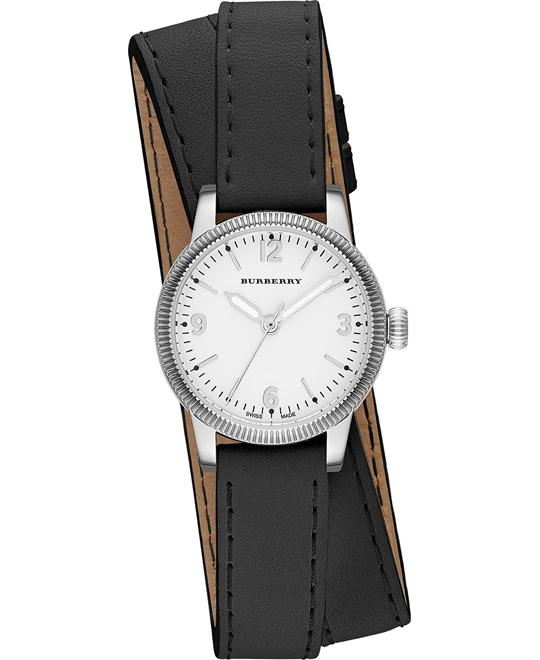 Burberry The Utilitarian Unisex Swiss Black Watch 30mm