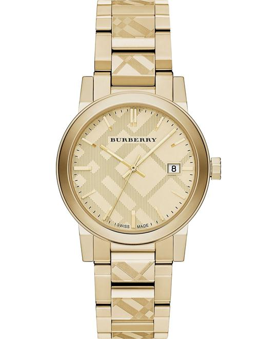 Burberry The City Unisex Swiss Gold Watch 38mm