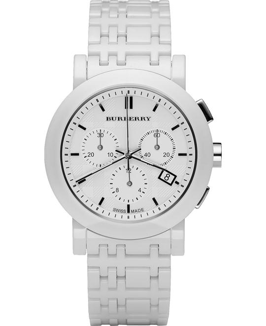 Burberry The City Unisex White Ceramic Bracelet Watch 40mm