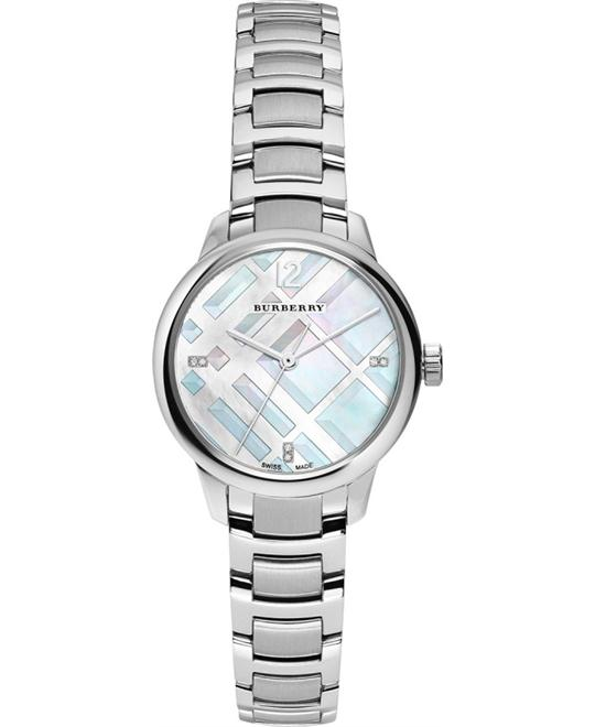 Burberry Women's Classic Round Silver Watch 32MM