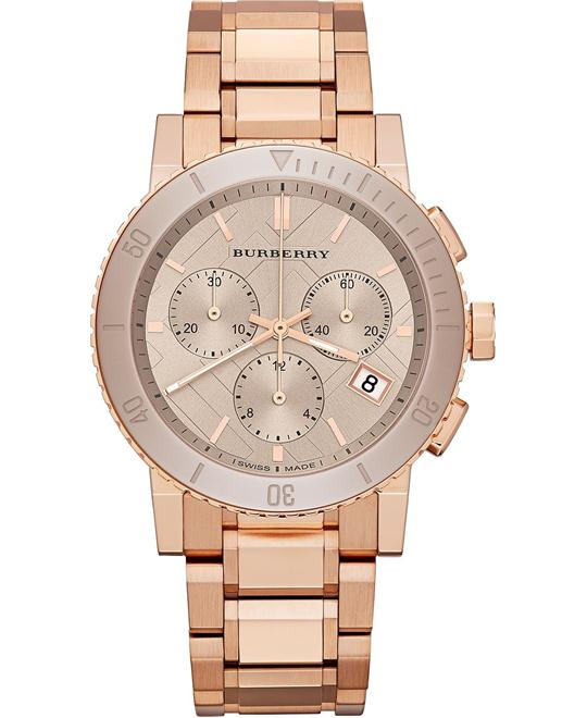 Burberry The City Chronograph Swiss Watch 38mm