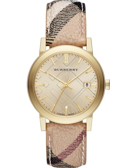 Burberry The City Champagne Swiss Haymarket Watch 38mm