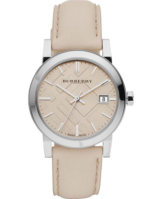 Burberry The City  Women's Swiss Leather  Watch 34mm