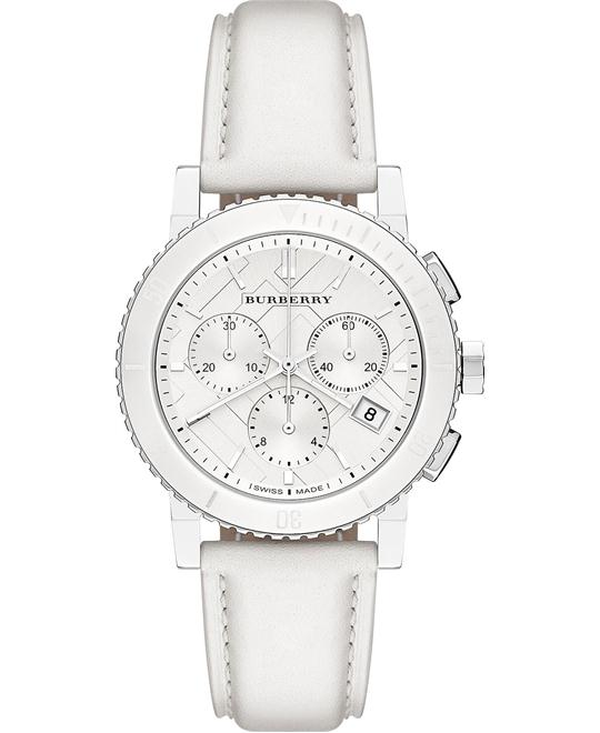 Burberry The City Women's Swiss Leather Strap Watch 38mm
