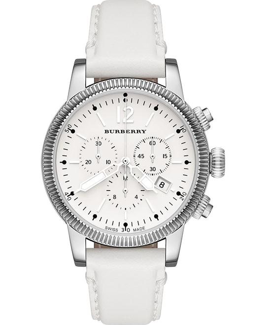 Burberry The City Women's Swiss Leather Strap Watch 42mm