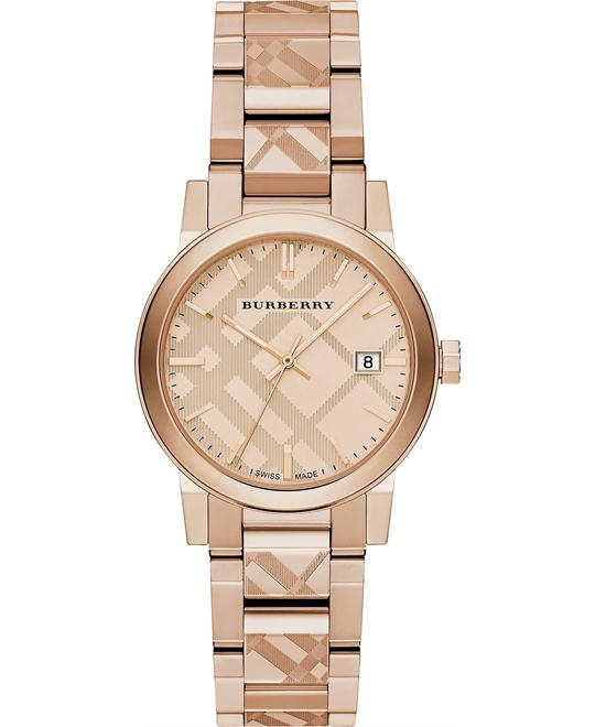 Burberry The City Rose Gold Stainless Watch 34mm