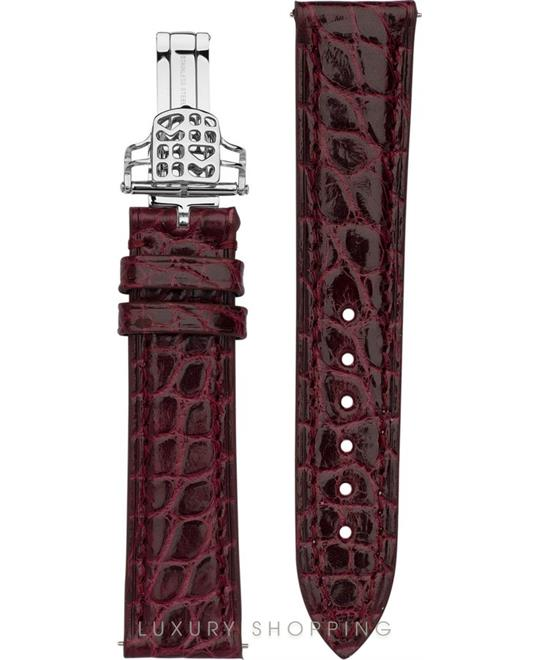 BURGUNDY ALLIGATOR STRAP 18MM