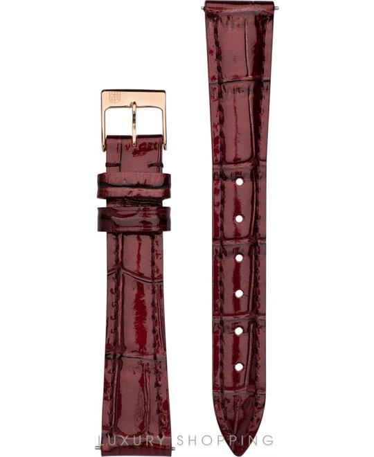 BURGUNDY LEATHER STRAP 15MM