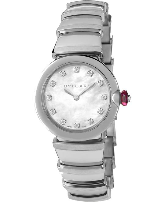 BVLGARI LVCEA 102196 LU28WSS/12 WATCH 28MM