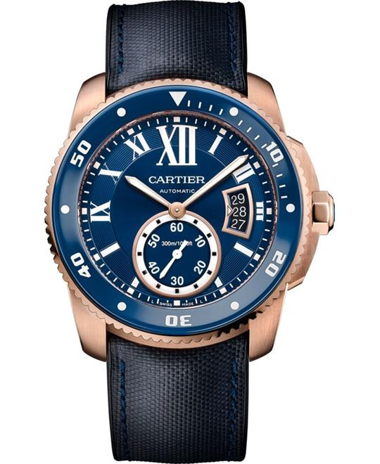 CALIBRE WGCA0009 DE CARTIER DIVER BLUE WATCH 42mm
