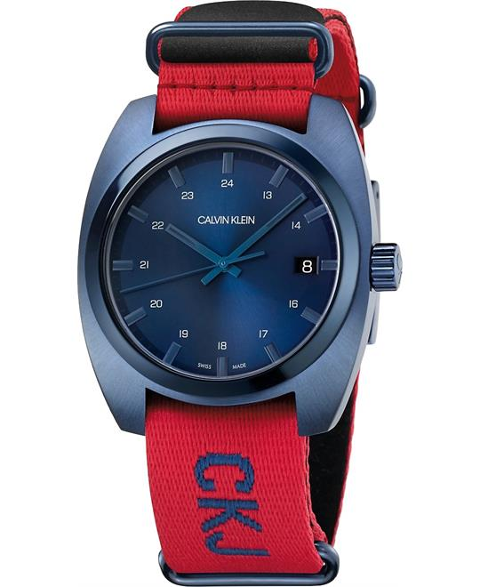 Calvin Klein Achieve Black Nato Blue 43mm