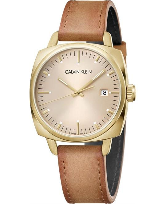 đồng hồ nữ Calvin Klein Fraternity Leather Watch 39mm