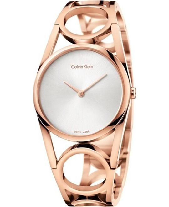 dong ho CALVIN KLEIN ROUND ROSE GOLD WOMEN'S WATCH 34MM