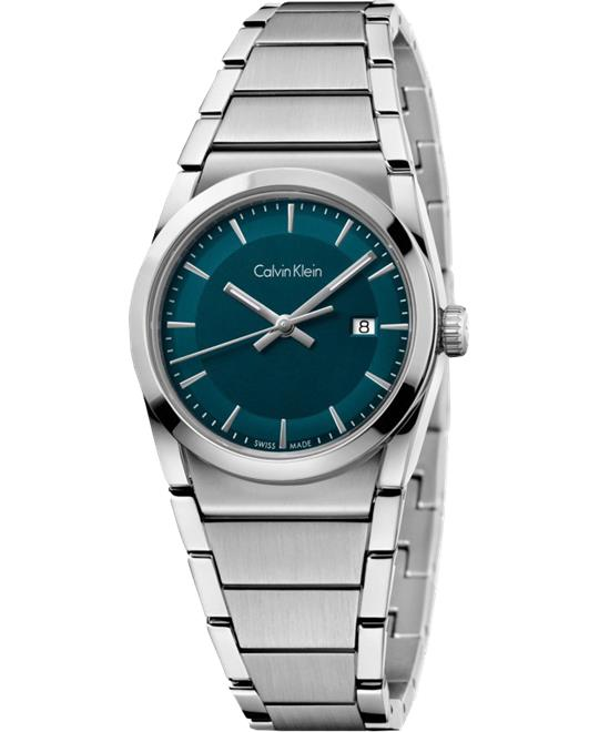 Calvin Klein Step Dark Green Watch 30mm