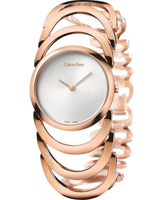 dong ho CALVIN KLEIN WOMEN'S GOLD STAINLESS 30MM