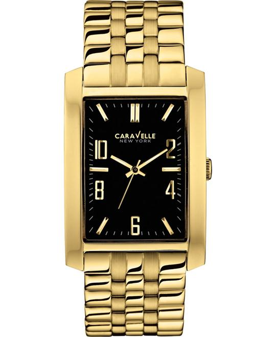Bulova Caravelle Men's Gold Stainless Steel Watch 44x30mm