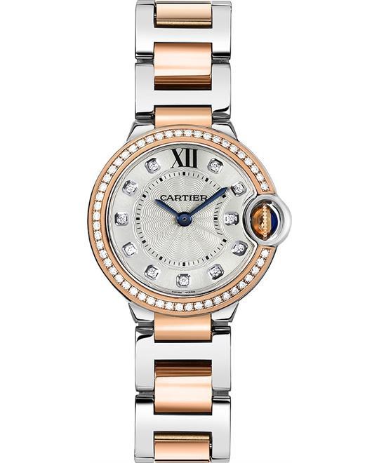 đồng hồ Cartier Ballon W3BB0009 Bleu Ladies Watch 28mm