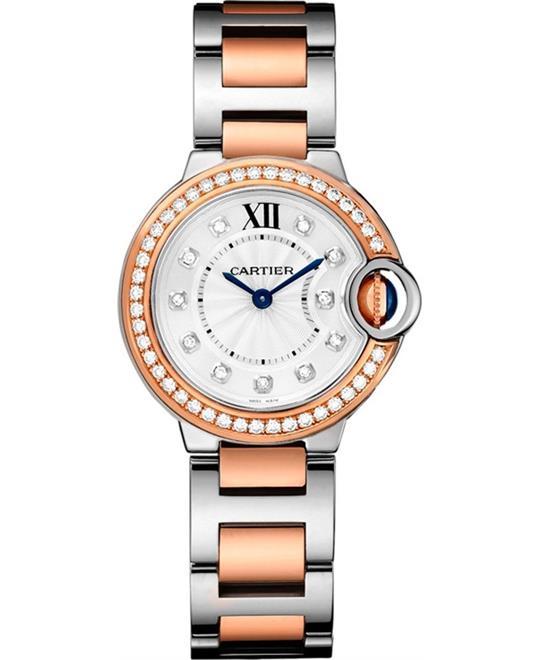 đồng hồ Cartier WE902076 Ballon Bleu Ladies Watch 28mm