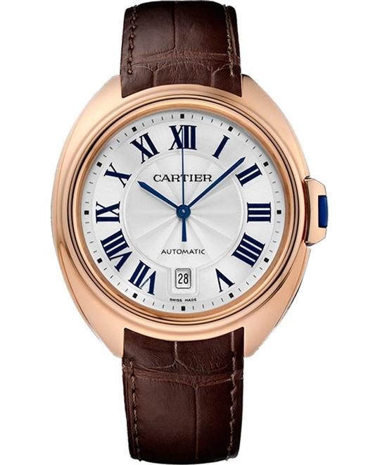 CARTIER WGCL0004 CLÉ DE WATCH 18K PINK GOLD 40MM
