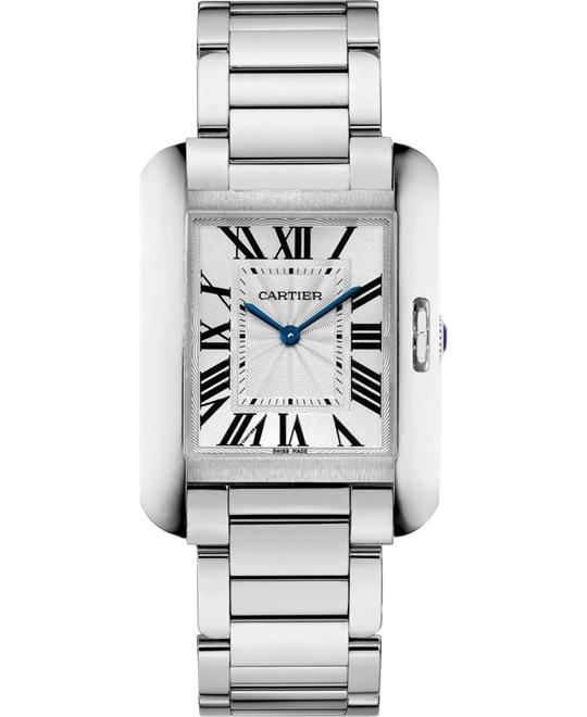 Cartier W5310044 Tank Anglaise Watch 34.7x26.2mm