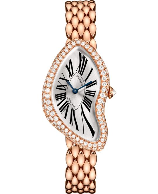 Cartier Crash WL420047 Pink Gold Diamonds 38.45 x 25.5