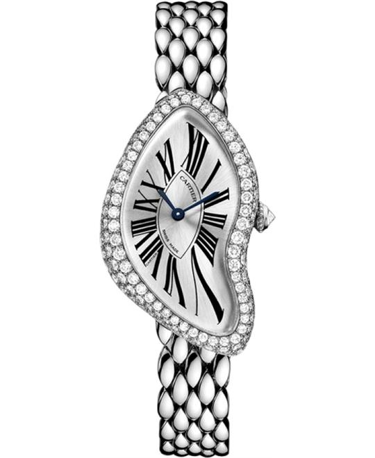 Cartier Crash WL420051 White Gold Diamonds Watch 38.45 x 25.5
