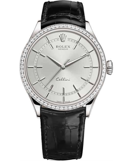 ROLEX CELLINI TIME 50709RBR-0010 WATCH 39