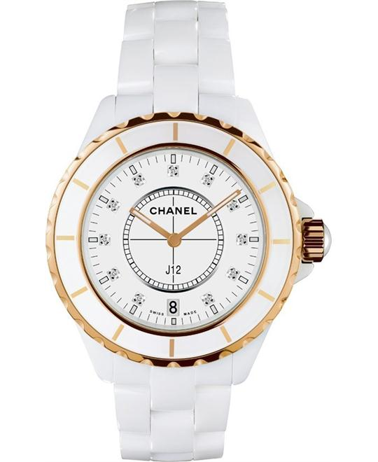 đồng hồ nữ CHANEL H2181 J12 White Ceramic Unisex Watch 33mm