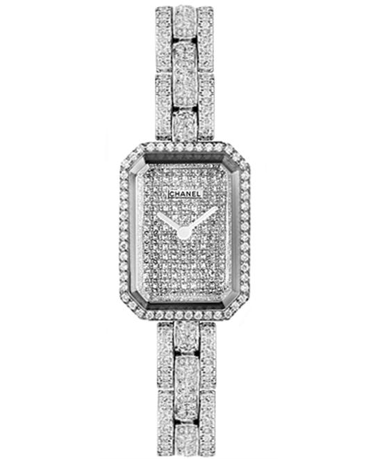 Chanel première H2437 Ladies Gold Diamonds 19.5 x 15