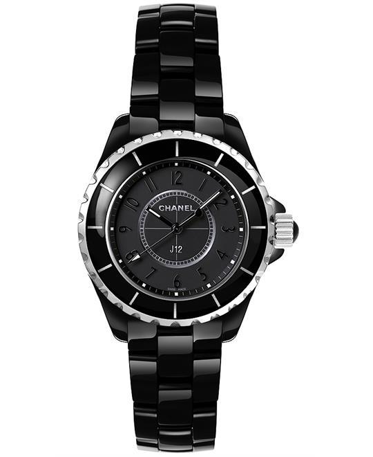 đồng hồ nữ Chanel h3828 J12 Ceramic Sapphire Quartz 33mm