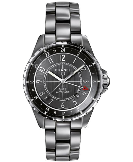 Chanel J12 H3099 Mens Automatic Ceramic Sapphire Grey 41
