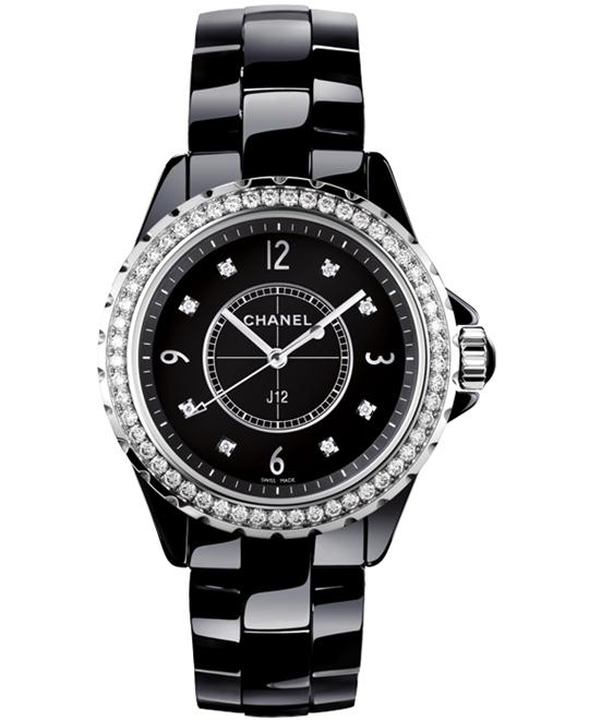 Chanel J12 H3108 Unisex Quartz Ceramic Black 33